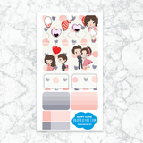 Personal Planner Horizontal Sticker Kit | HAPPY CUPID