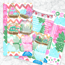 Personal Planner Vertical  Sticker Kit | HAPPY TERRARIUM
