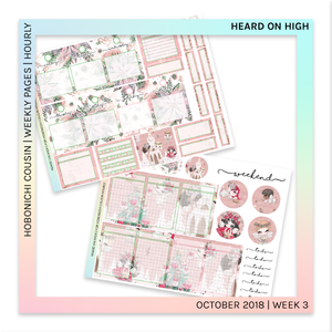 HOBONICHI COUSIN | HOURLY STICKER KIT | Heard on High
