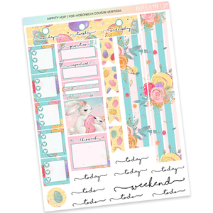 HOBONICHI COUSIN | VERTICAL STICKER KIT | Hippity Hop