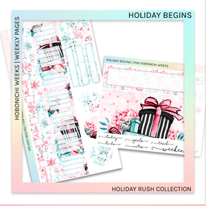 HOBONICHI WEEKS | WEEKLY PAGES | Holiday Begins