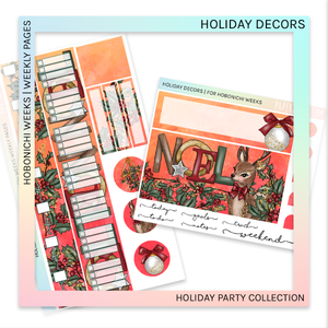 HOBONICHI WEEKS | WEEKLY PAGES | Holiday Decors