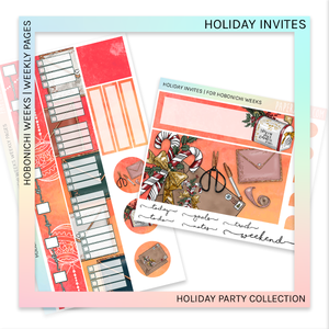 HOBONICHI WEEKS | WEEKLY PAGES | Holiday Invites