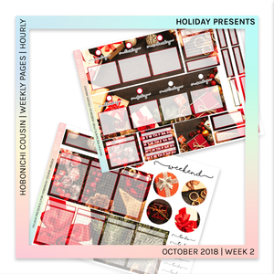 HOBONICHI COUSIN | HOURLY STICKER KIT | Holiday Presents