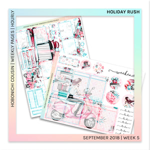 HOBONICHI COUSIN | HOURLY STICKER KIT | Holiday Rush