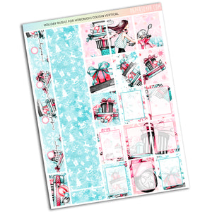 HOBONICHI COUSIN | VERTICAL STICKER KIT | Holiday Rush