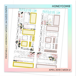PRINTABLE | HOBONICHI WEEKS | Honeycomb A4 size paper