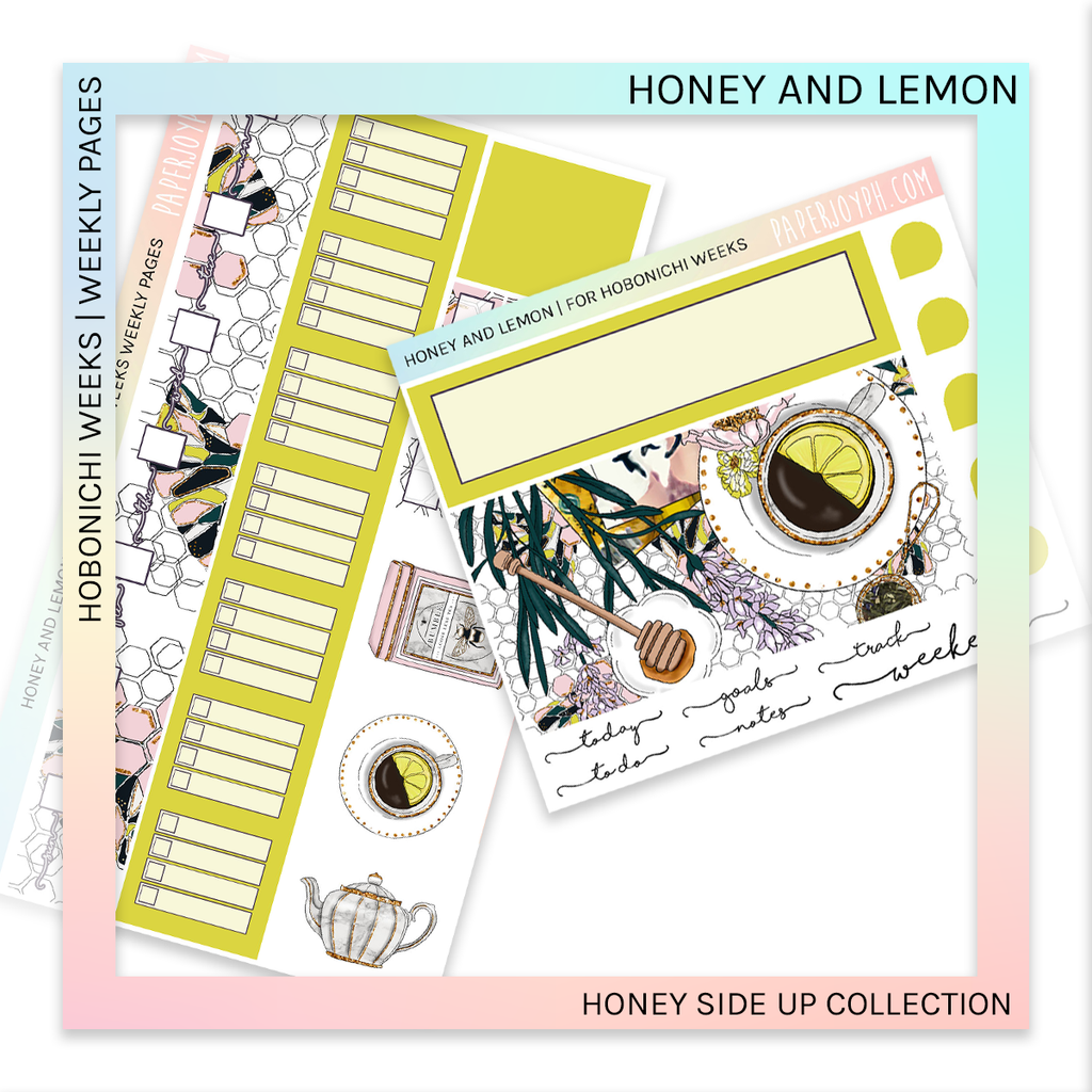 HOBONICHI WEEKS | WEEKLY PAGES | Honey and Lemon