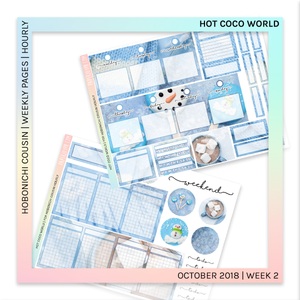 HOBONICHI COUSIN | HOURLY STICKER KIT | Hot Coco World
