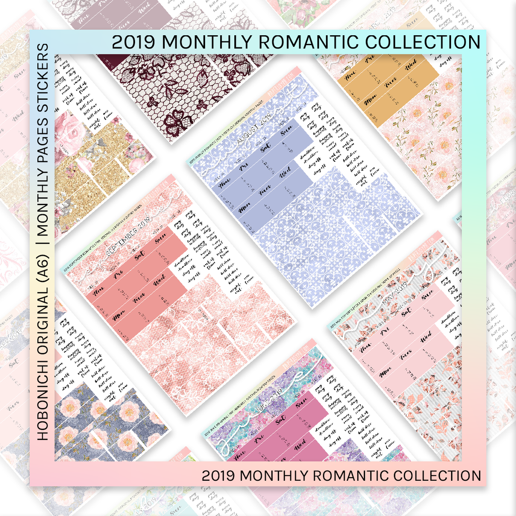 HOBONICHI ORIGINAL (A6) | MONTHLY PAGES | Romantic BUNDLE 2019