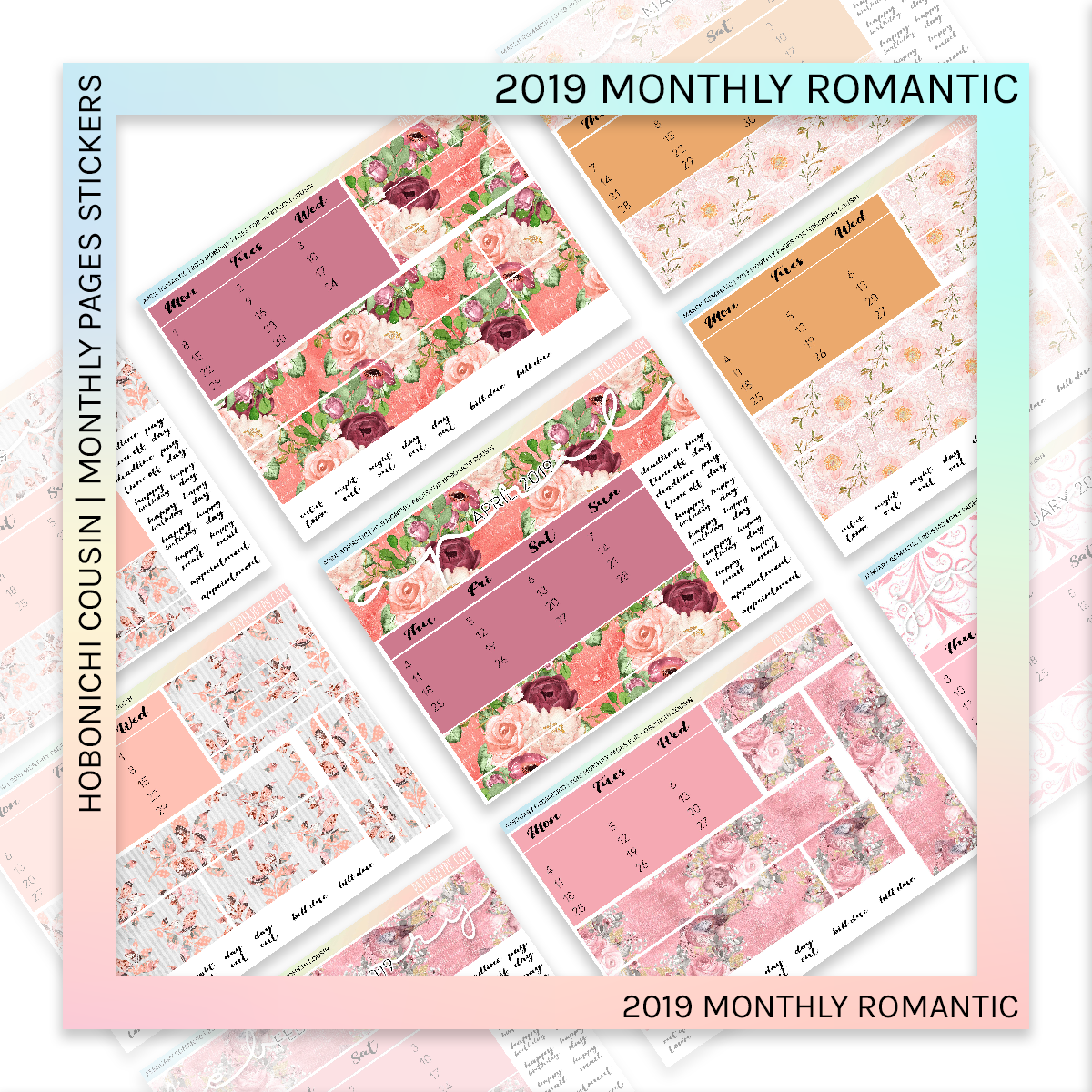 HOBONICHI COUSIN | MONTHLY PAGES | January Romantic 2019