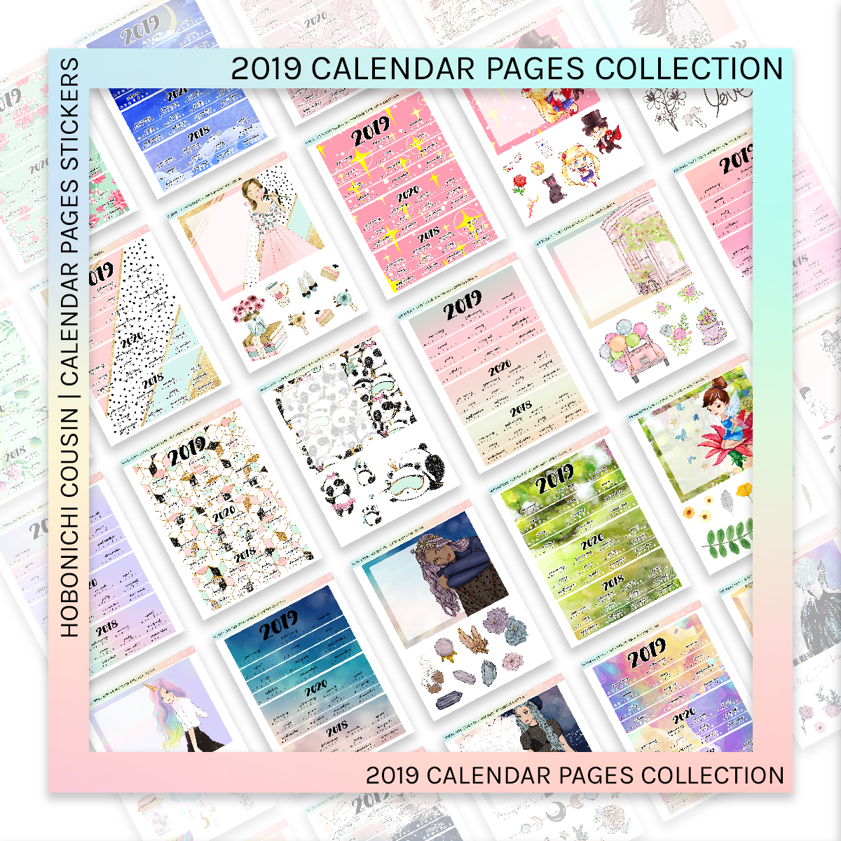 HOBONICHI COUSIN | CALENDAR PAGES | Teffeny 2019