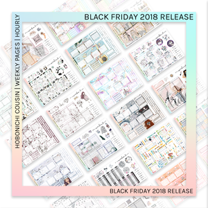 HOBONICHI COUSIN | HOURLY STICKER KIT | All About Winter