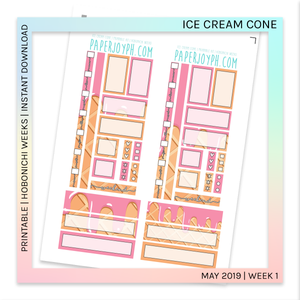 PRINTABLE | HOBONICHI WEEKS | Ice Cream Cone
