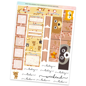 HOBONICHI COUSIN | VERTICAL STICKER KIT | Into The Woods