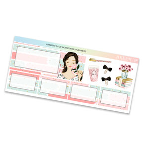 HORIZONTAL PLANNER STICKER KIT | I Believe