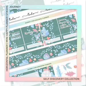 HORIZONTAL PLANNER STICKER KIT | Journey