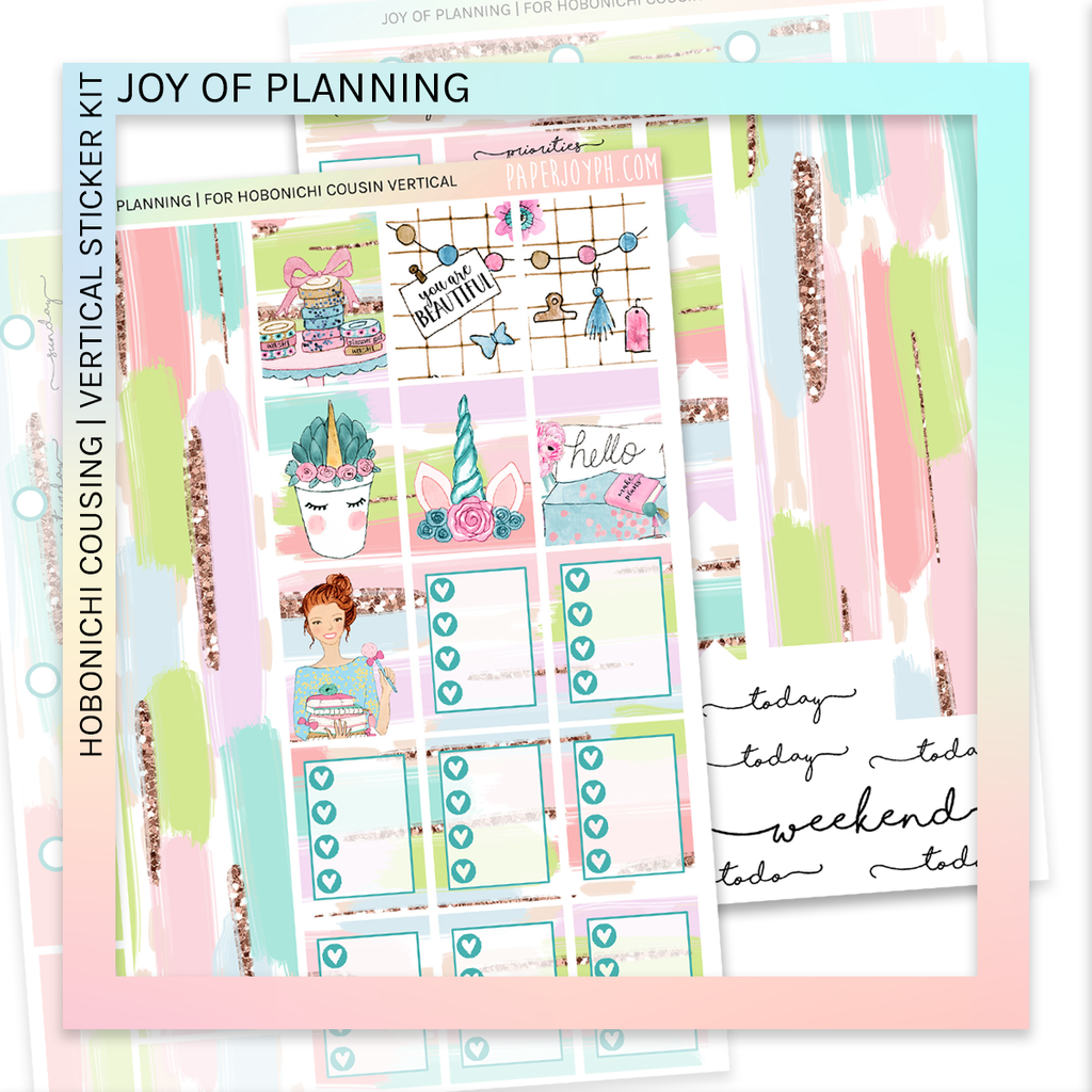 HOBONICHI COUSIN | VERTICAL STICKER KIT | Joy of Planning