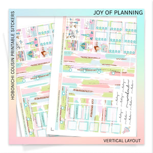 HOBONICHI COUSIN PRINTABLES | VERTICAL STICKER KIT | JOY OF PLANNING