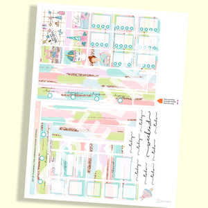 PRINTABLES | HOBONICHI COUSIN | VERTICAL STICKER KIT | JOY OF PLANNING