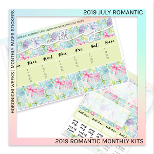 HOBONICHI WEEKS | 2019 MONTHLY PAGES | July Romantic 2019