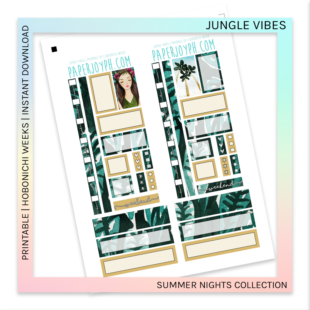 PRINTABLE | HOBONICHI WEEKS | Jungle Vibes