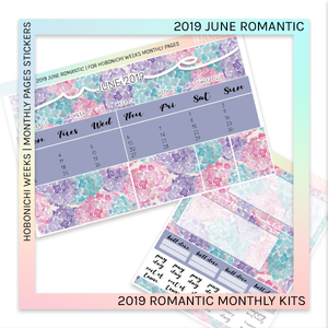 HOBONICHI WEEKS | 2019 MONTHLY PAGES | June Romantic 2019