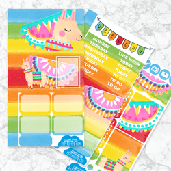 Personal Planner Vertical  Sticker Kit | LLAMA LOVE