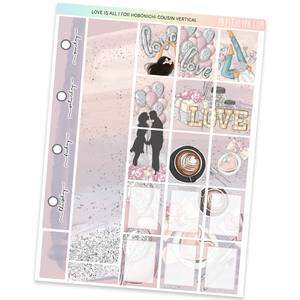HOBONICHI COUSIN | VERTICAL STICKER KIT | Love is All