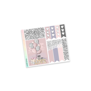 VERTICAL PLANNER STICKER KIT | Love is All