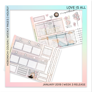 HOBONICHI COUSIN | HOURLY STICKER KIT | Love is All
