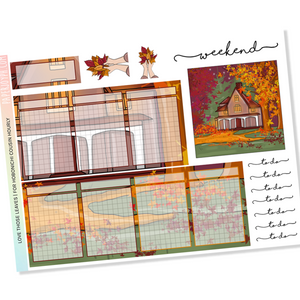 HOBONICHI COUSIN | HOURLY STICKER KIT | LOVE THOSE LEAVES