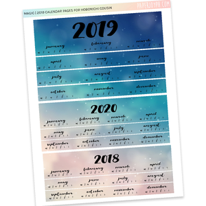 HOBONICHI COUSIN | CALENDAR PAGES | Magic