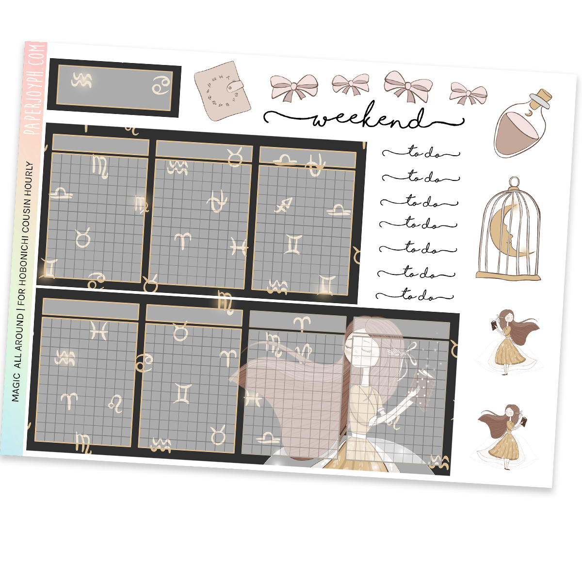 HOBONICHI COUSIN | HOURLY STICKER KIT | Magic All Around