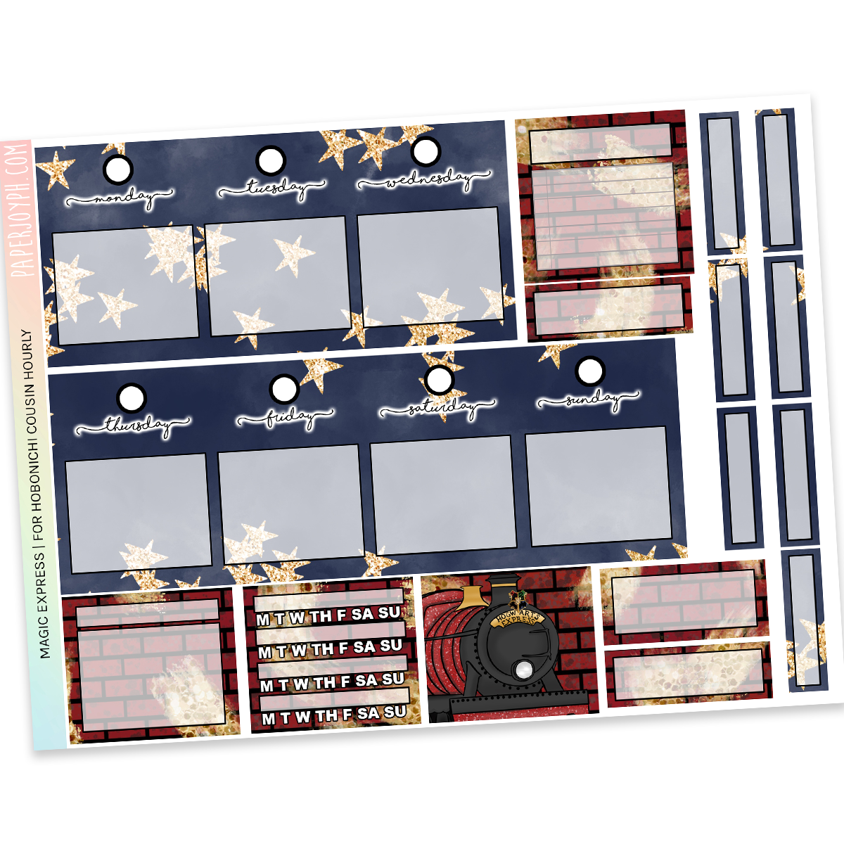 HOBONICHI COUSIN | HOURLY STICKER KIT | Magic Express