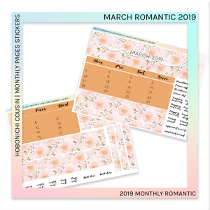 HOBONICHI COUSIN | MONTHLY PAGES | March Romantic 2019