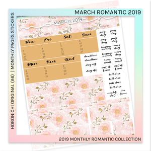 HOBONICHI ORIGINAL (A6) | MONTHLY PAGES | March Romantic 2019