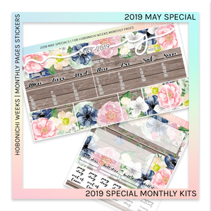 !!LIMITED TIME ONLY!! HOBONICHI WEEKS | 2019 MONTHLY PAGES | May Special Kit