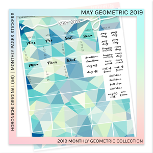 HOBONICHI ORIGINAL (A6) | MONTHLY PAGES | May Geometric 2019
