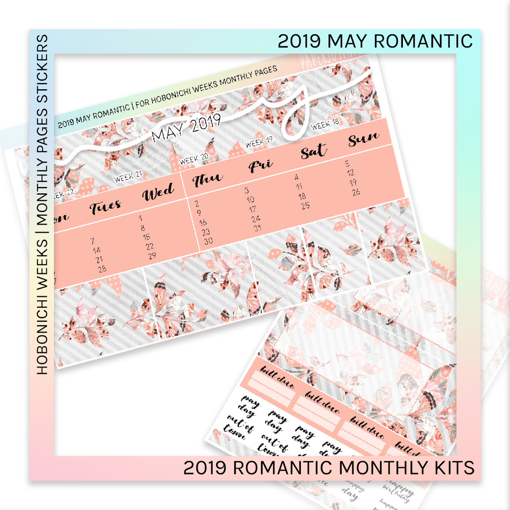 HOBONICHI WEEKS | 2019 MONTHLY PAGES | May Romantic 2019