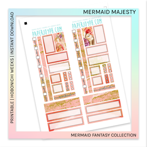 PRINTABLE | HOBONICHI WEEKS | Mermaid Majesty