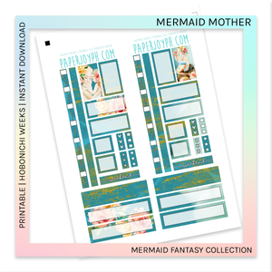 PRINTABLE | HOBONICHI WEEKS | Mermaid Mother