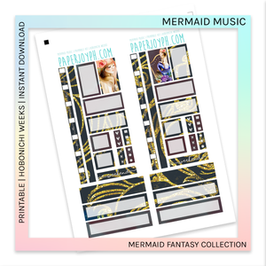 PRINTABLE | HOBONICHI WEEKS | Mermaid Music