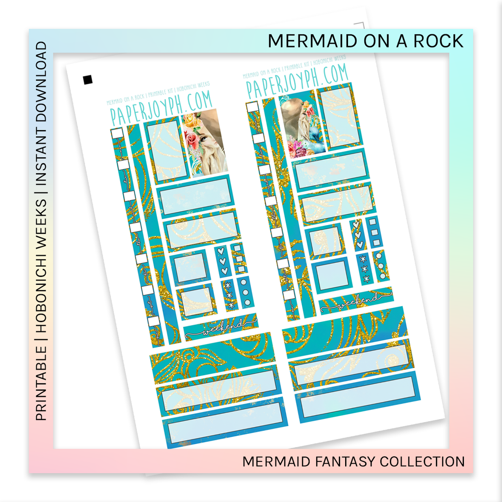 PRINTABLE | HOBONICHI WEEKS | Mermaid on a Rock