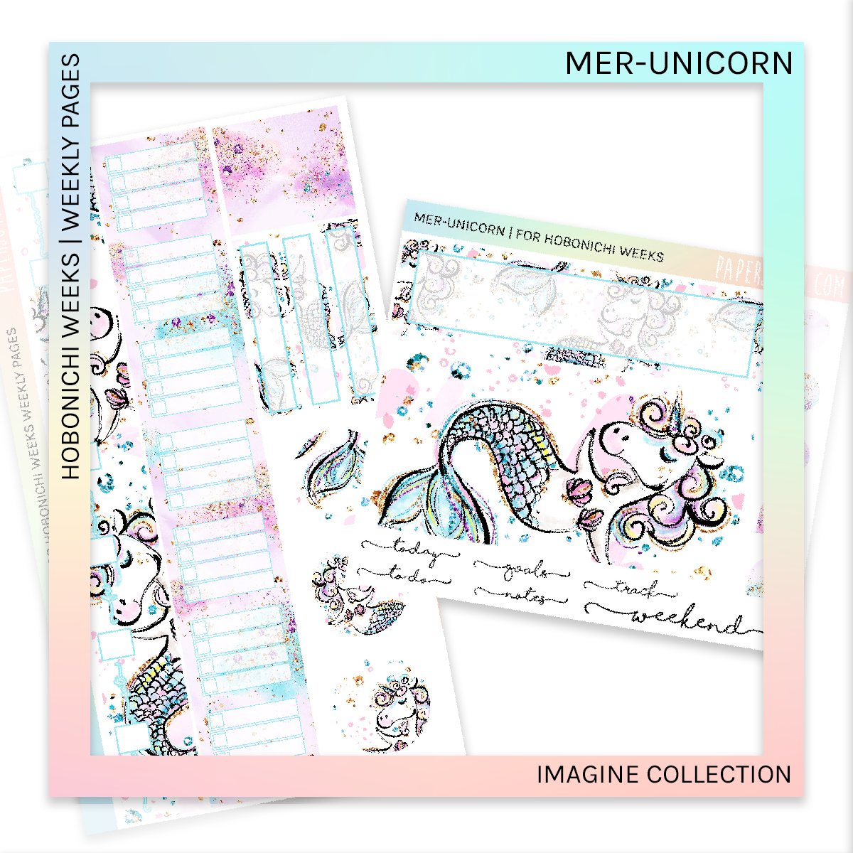 HOBONICHI WEEKS | WEEKLY PAGES | Mer-Unicorn