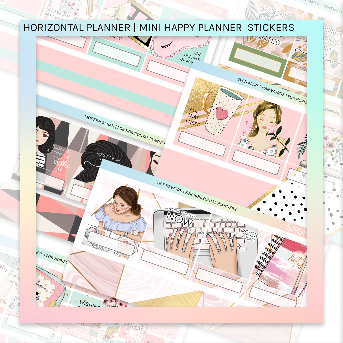 HORIZONTAL PLANNER STICKER KIT | Yas Queen