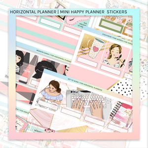 HORIZONTAL PLANNER STICKER KIT | Moon and Mask