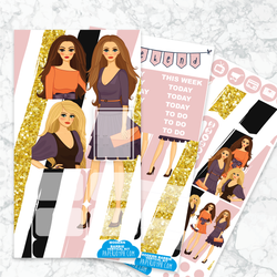 Personal Planner Vertical  Sticker Kit | MODERN BARBIE