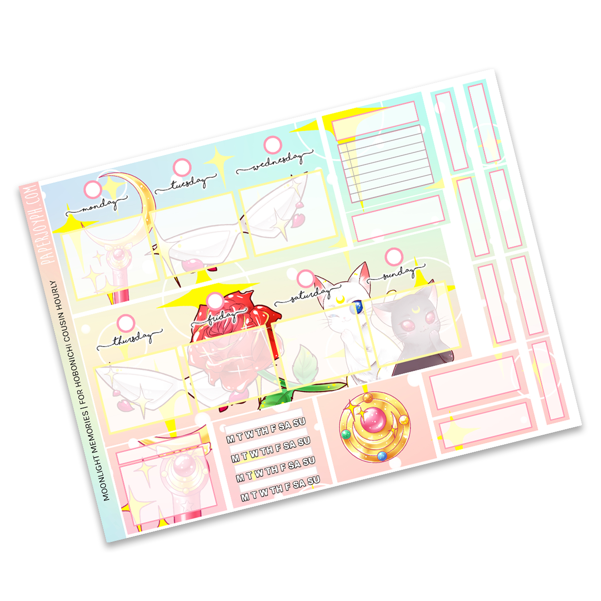 HOBONICHI COUSIN | HOURLY STICKER KIT | Moonlight Memories