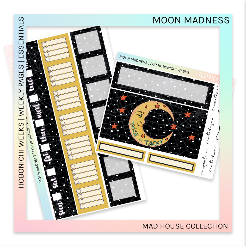 HOBONICHI WEEKS | WEEKLY PAGES | MOON MADNESS